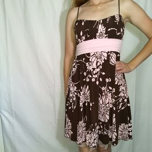 RUBY ROX Brown and Pink Semi-formal Dress